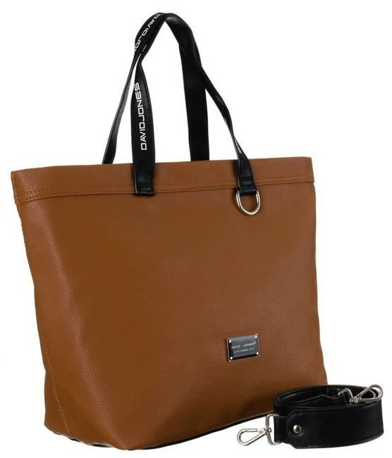 Shopper bag koniakowy David Jones CM5628