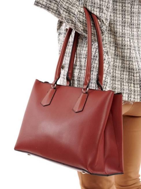 Shopper bag koniakowy David Jones CM5695 COGNAC