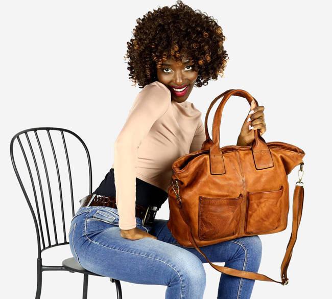 Shopper damski MARCO MAZZINI camel v169b