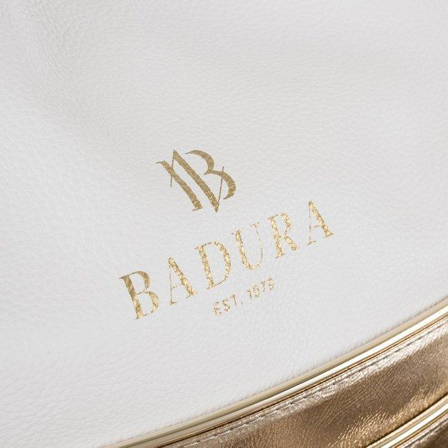 Shopper damski biało-złoty Badura T_D222BI/ZŁ_CD