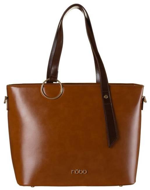 Shopper damski brązowy Nobo NBAG-K3670-C017