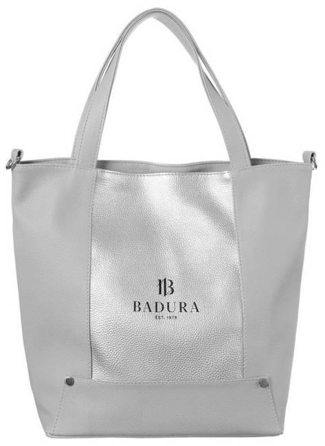 Shopper damski szary Badura TD_204SZ_CD