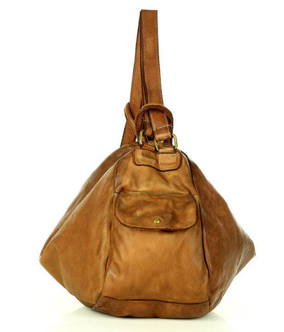 Shopperka brązowa MARCO MAZZINI  v182a