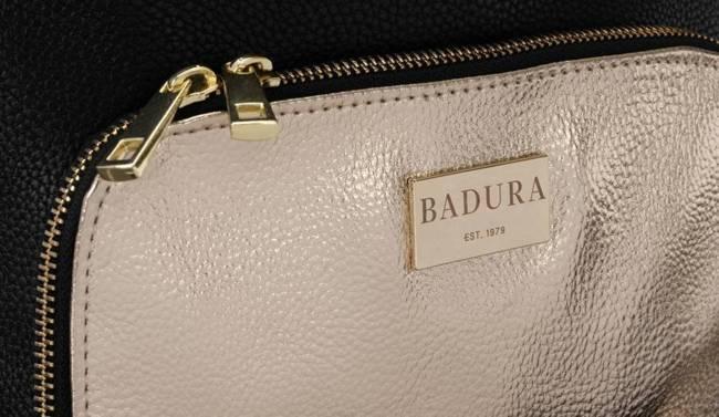 Shopperka czarna ze złotą kieszonką Badura T_D173CZ_CD