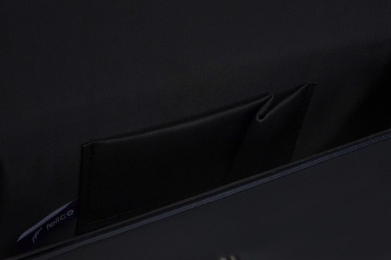 Skórzana kopertówka Felice F13 gold czarna