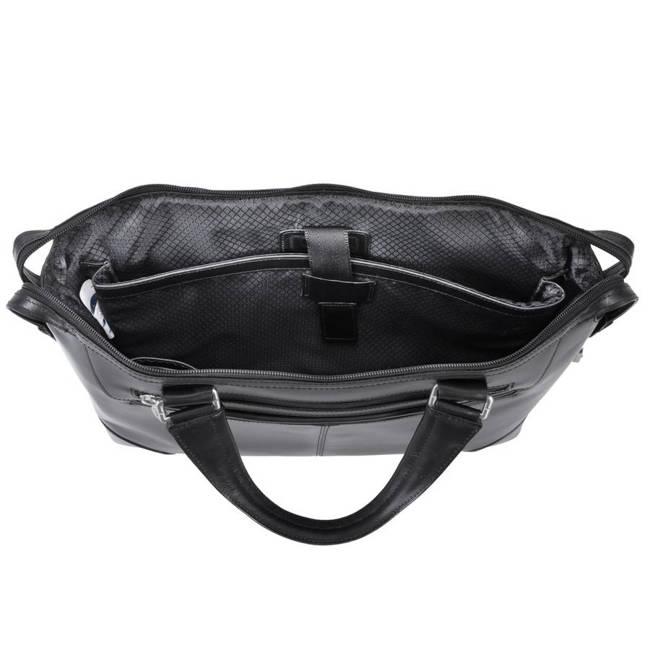 Skórzana męska torba na laptopa MCKLEIN Arcadia 88765 czarna