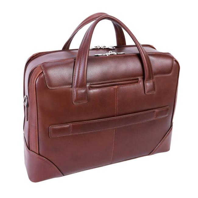 Skórzana męska torba na laptopa MCKLEIN Harpswell 88565 brązowa