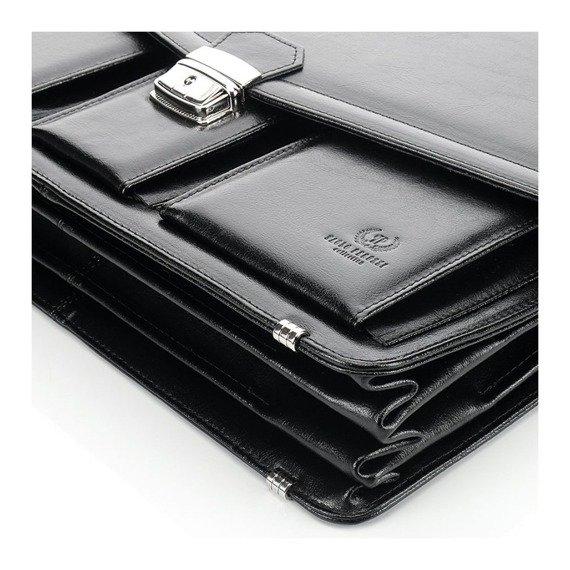 Skórzana teczka aktówka męska na laptopa PAOLO PERUZZI GA162 brązowa