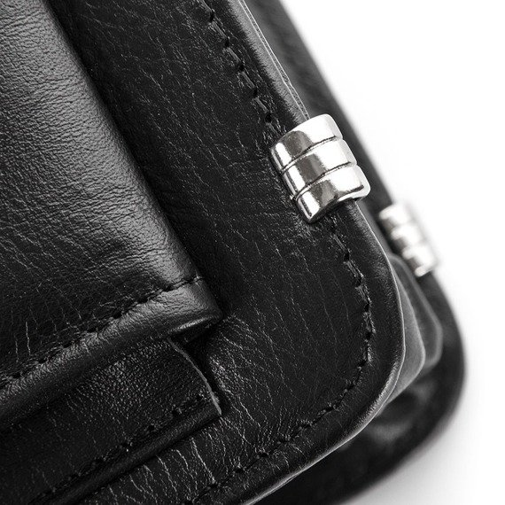 Skórzana teczka aktówka męska na laptopa PAOLO PERUZZI GA163 czarna