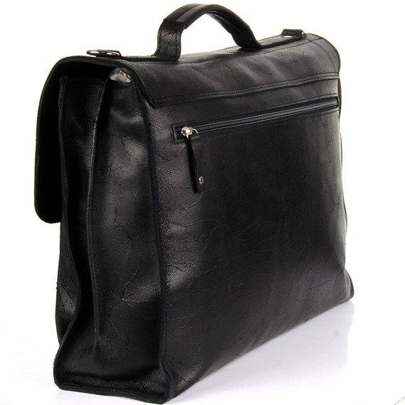 Skórzana teczka do ręki i torba na ramię unisex DAAG Funky Go 17 czarna