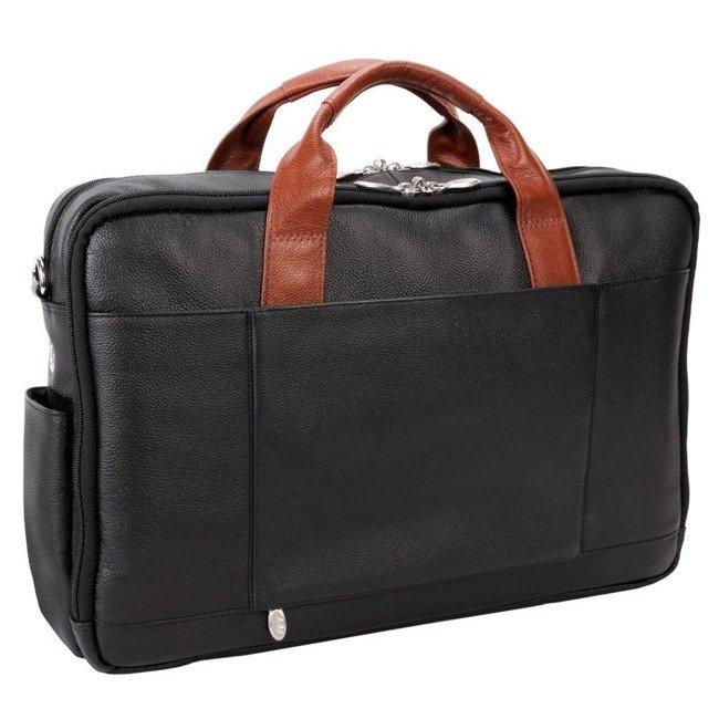"""Skórzana torba biznesowa na laptopa Mcklein Southport 17"""" czarny"""