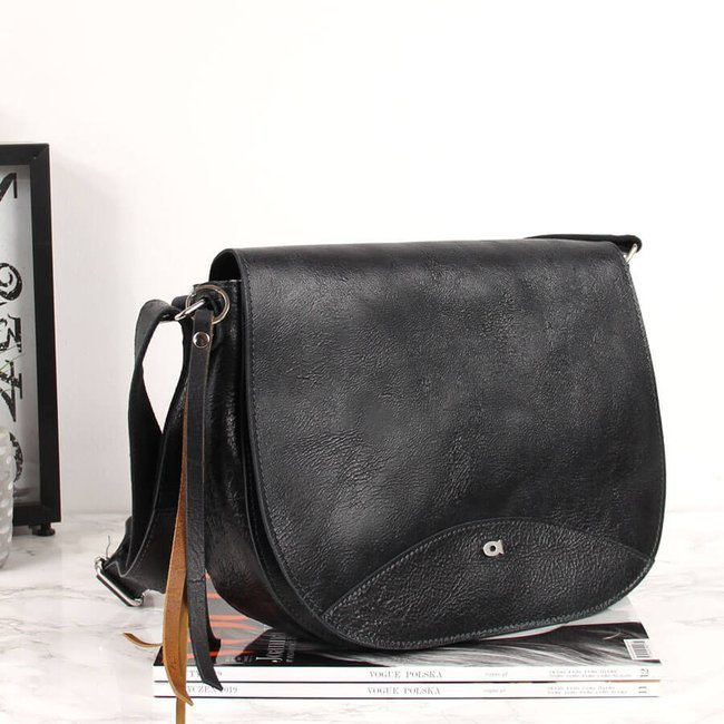 Skórzana torba damska DAAG Jazzy Wanted 112 czarna