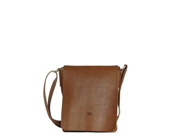 Skórzana torba listonoszka unisex DAAG Jazzy Smash 78 koniak