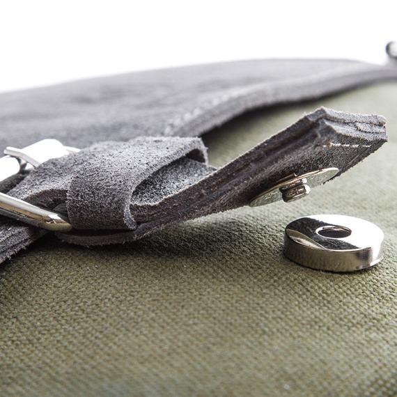 Skórzana torba męska Paolo Peruzzi Adventure GA132 zielono-jasnobrązowa