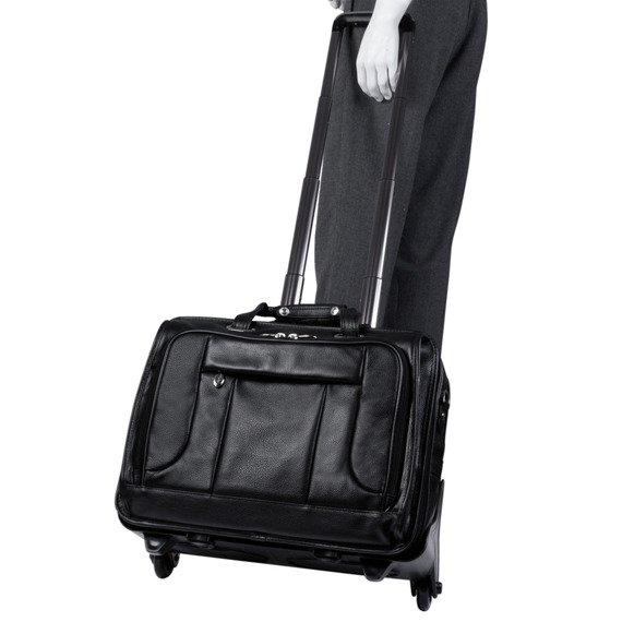 Skórzana torba męska biznesowa 2w1 Mcklein West Town 15705