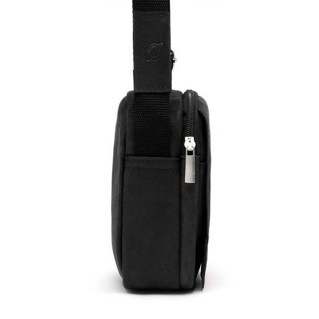 Skórzana torba męska listonoszka BRODRENE BL04 czarna