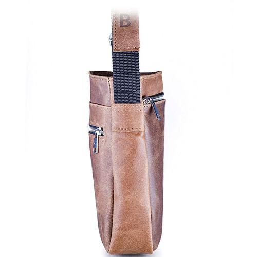 Skórzana torba męska listonoszka BRODRENE BL08 ciemnobrązowa