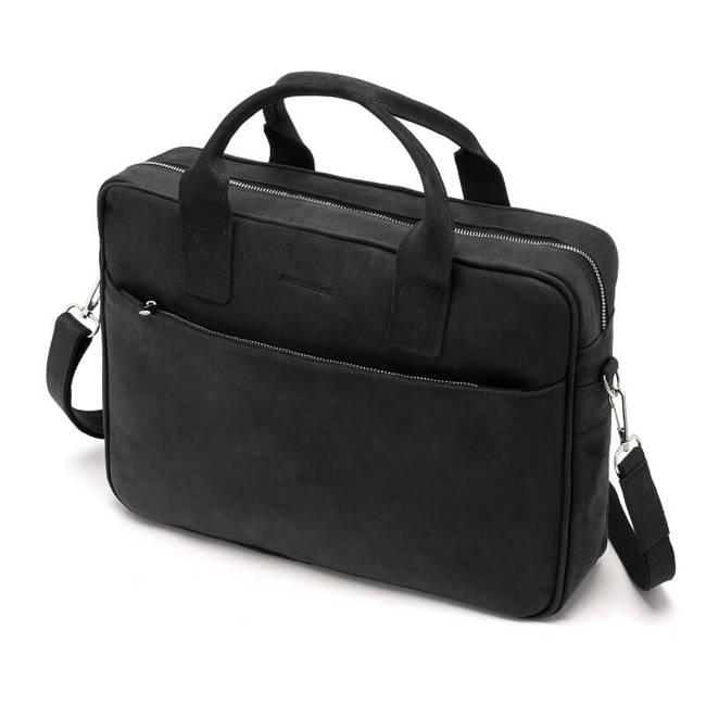 Skórzana torba męska na ramię, laptop Brodrene BL12 czarny