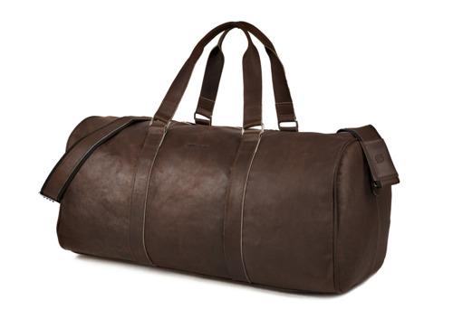 Skórzana torba męska podróżna BRODRENE BL40 ciemnobrązowa