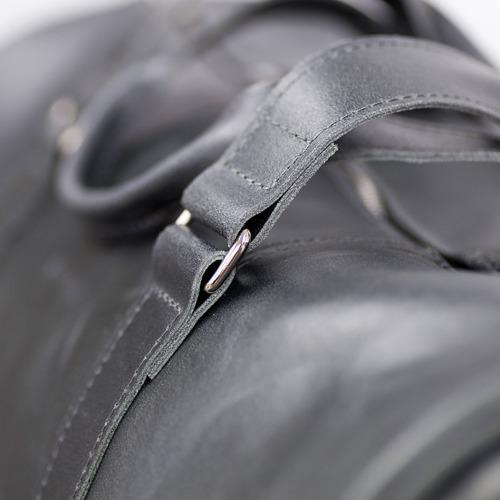 Skórzana torba męska podróżna BRODRENE R20 grafitowa