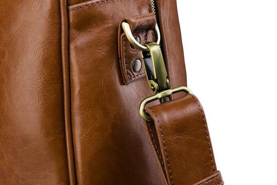 Skórzana torba męska podróżna, weekendowa Solier brązowa