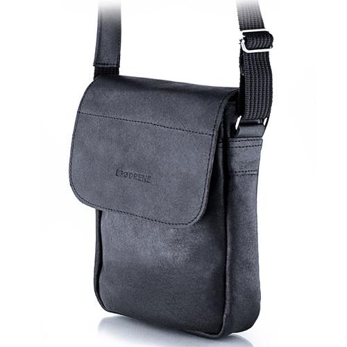 Skórzana torba męska raportówka BRODRENE BL07 czarna