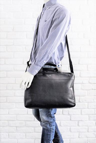 Skórzana torba na laptopa DAAG Albedo 1 ciemnobrązowa