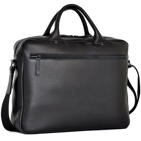Skórzana torba na laptopa Daag Shaker 49 czarna