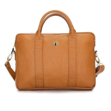 Skórzana torba na laptopa Felice Gold FG04 camel