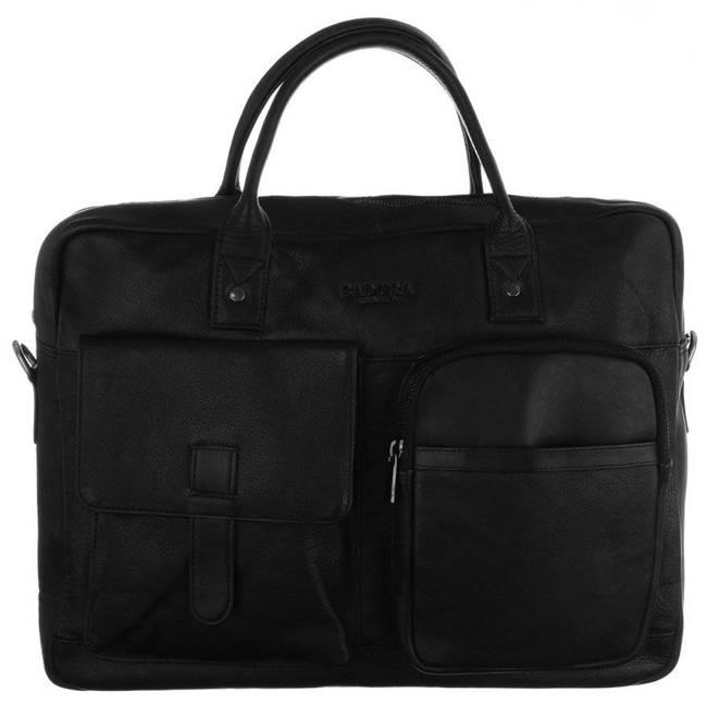 Skórzana torba na laptopa czarna Badura B-LAP-15603-NDM-6543