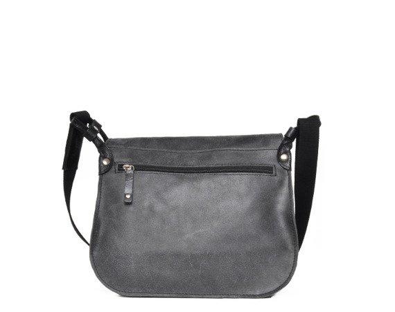 Skórzana torba na ramię unisex DAAG Jazzy Risk Up 138 czarna