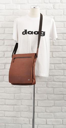 Skórzana torba na ramię unisex koniakowa DAAG Jazzy Run 5