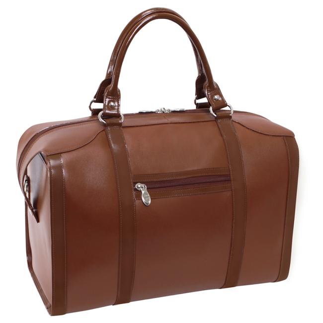 Skórzana torba podróżna McKlein Throop 88204 brązowa