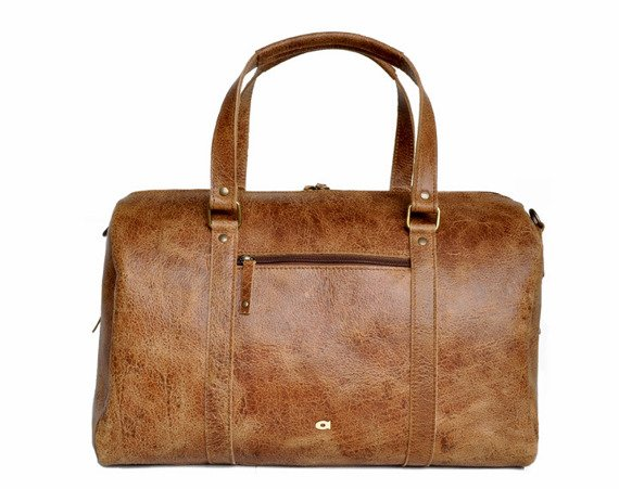Skórzana torba podróżna unisex DAAG Jazzy Wanted 91 jasnobrązowa