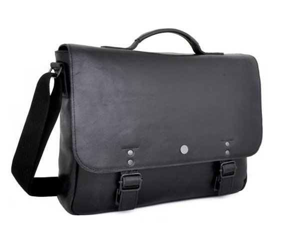 "Skórzana torba / teczka na laptopa 15"" 2JUS by DAAG Stone 1 czarna"