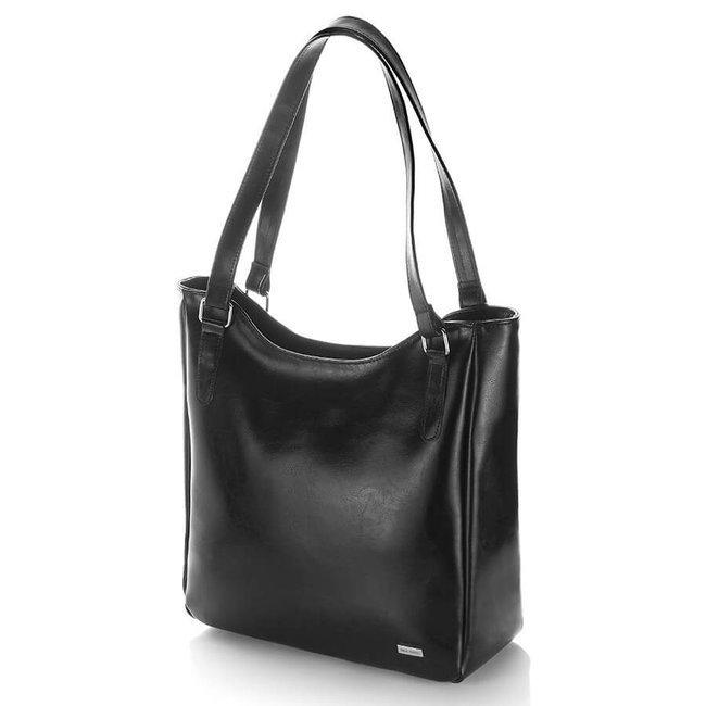 Skórzana torebka damska czarna PAOLO PERUZZI GA317