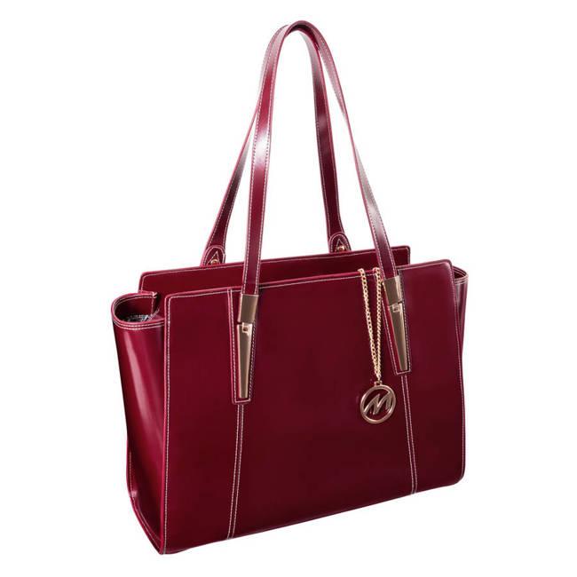 Skórzana torebka damska czerwona Mcklein Aldora 97506