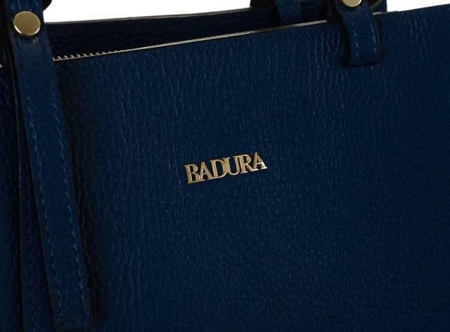 Skórzana torebka damska granatowa Badura T_D211GN_CD