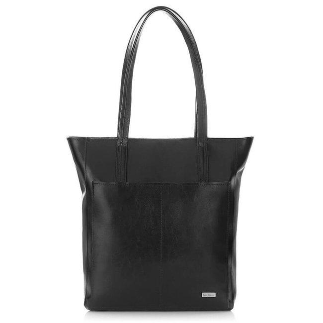 Skórzana torebka na ramię Paolo Peruzzi Z-21-BL czarna