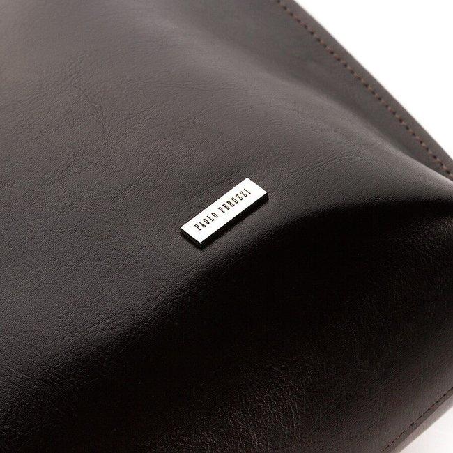 Skórzana torebka na ramię Paolo Peruzzi Z-23-BR ciemnobrązowa