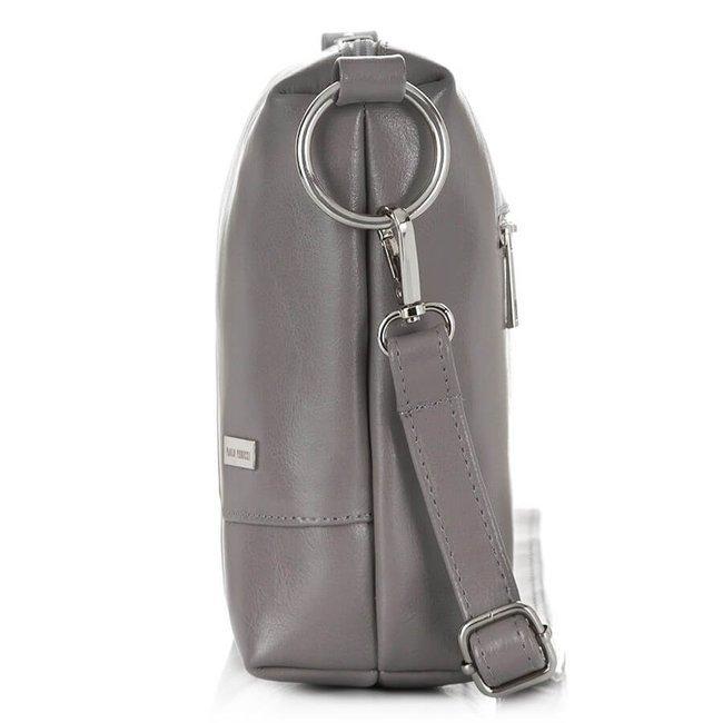 Skórzana torebka shopper bag 2w1 Paolo Peruzzi Z-25-GR szara
