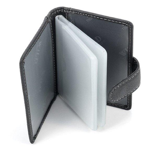 Skórzane czarne etui na dokumenty, karty, wizytówki GA4