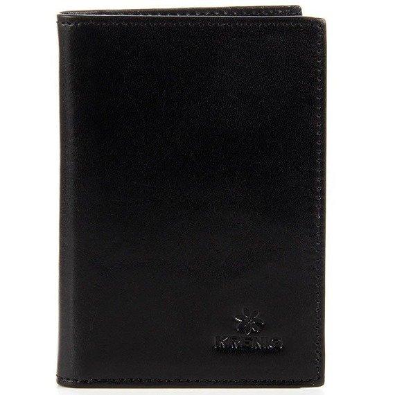 Skórzane etui na karty, dokumenty KRENIG Classic 12067 czarne