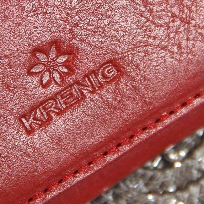 Skórzane etui na wizytówki czerwone Krenig 12035
