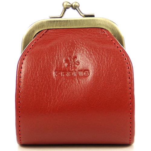 Skórzane puzderko mieszek czerwony KRENIG Classic 12018