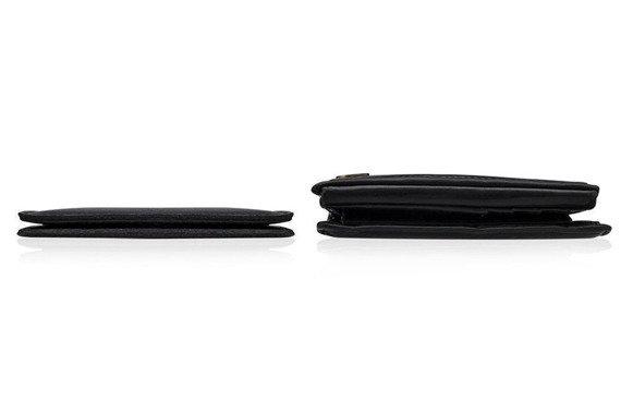 Skórzany cienki portfel męski z bilonówką SOLIER SW16A SLIM brązowy