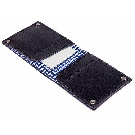 Skórzany cienki portfel wizytownik SOLIER SW21 czarny