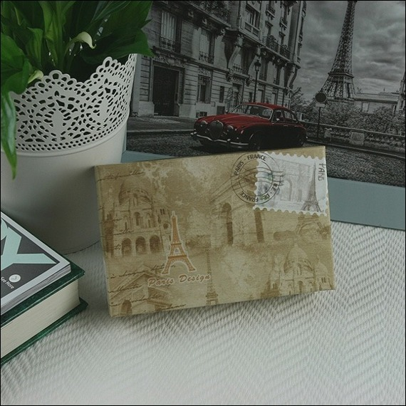 Skórzany lakierowany portfel damski brązowy Paris Design 72401
