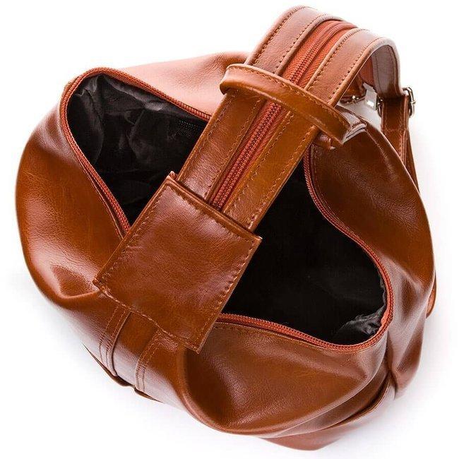 Skórzany plecak damski czarny PAOLO PERUZZI GA311
