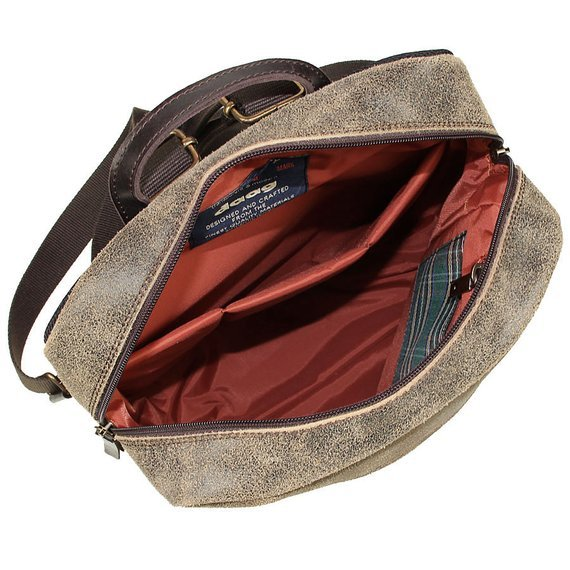 Skórzany plecak męski DAAG Jazzy Risk Up 170 brązowy